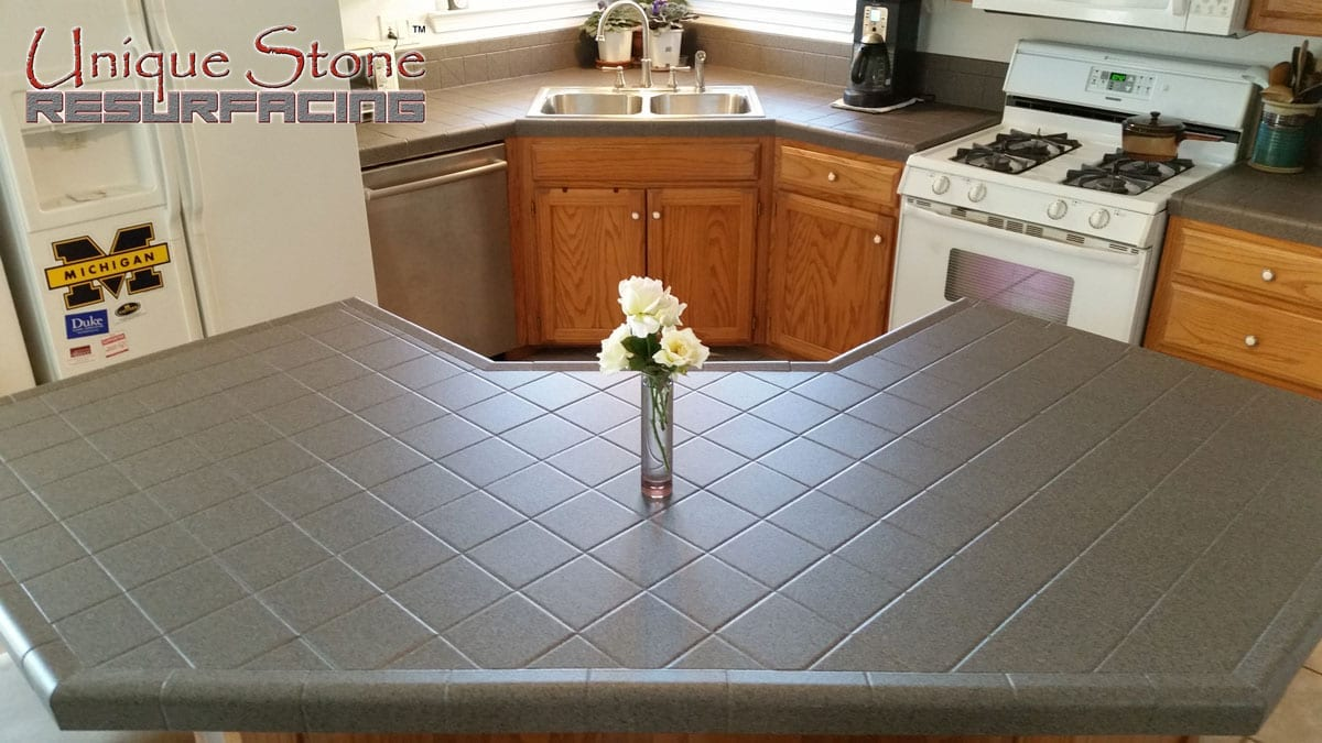 Kitchen Tile Countertop Resurfacing